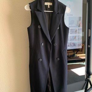 Rag & Bone 'Faye' Longline Double Breasted Vest